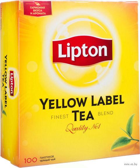 """Чай черный """"Lipton. Yellow Label"""" (100 пакетиков) — фото, картинка"""