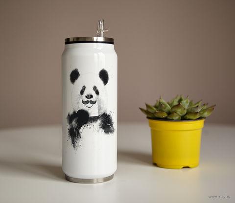 "Банка ""Панда с усами"" (350 мл) — фото, картинка"