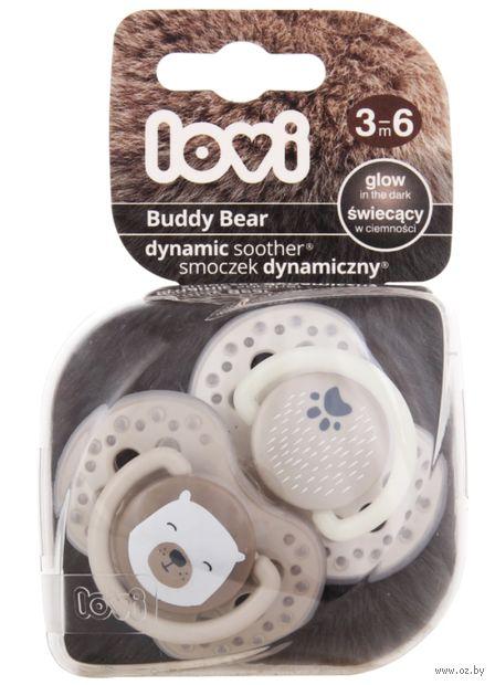 """Пустышка силиконовая динамическая """"Buddy bear"""" (2 шт.; арт. 22/864) — фото, картинка"""