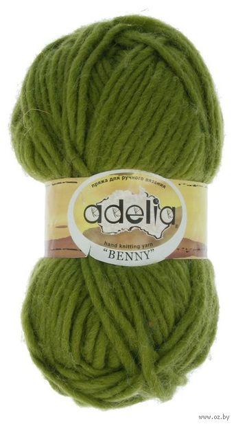 """Пряжа """"Adelia. Benny №764"""" (100 г; 96 м; оливковый) — фото, картинка"""