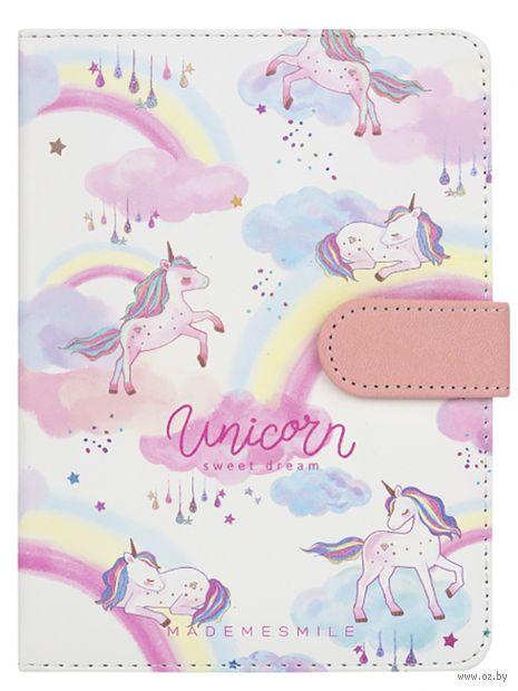 """Блокнот """"Pastel unicorn"""" (А5; белый) — фото, картинка"""