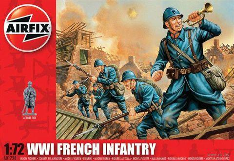 "Набор миниатюр ""Французская пехота WW.I"" (масштаб: 1/72) — фото, картинка"