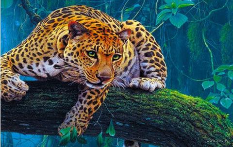 """Пазл """"В мире животных. Леопард на дереве"""" (160 элементов) — фото, картинка"""