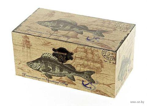Шкатулка деревянная (240х160х115 мм; арт. 7790171)