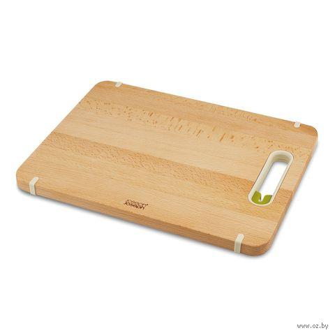 """Доска разделочная деревянная с ножеточкой """"Slice&Sharpen"""" (37х28х2 см)"""