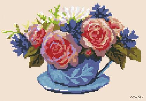 """Вышивка крестом """"Розовое утро"""" (260x180 мм) — фото, картинка"""