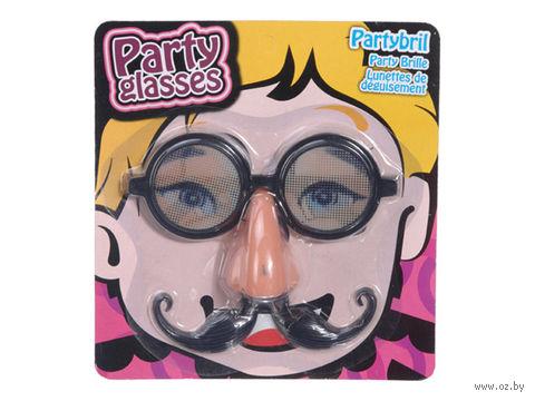 Очки для праздника с носом и усами