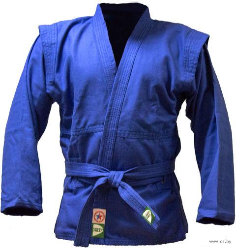 Куртка для самбо JS-302 (р. 4/170; синяя) — фото, картинка