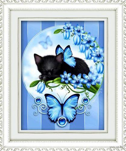 "Алмазная вышивка-мозаика ""Голубые мечты"" (400х500 мм) — фото, картинка"