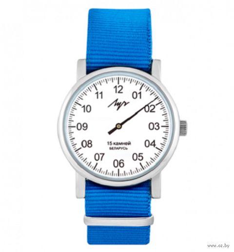 """Часы наручные """"Однострелочник"""" (синие; арт. 77471766) — фото, картинка"""