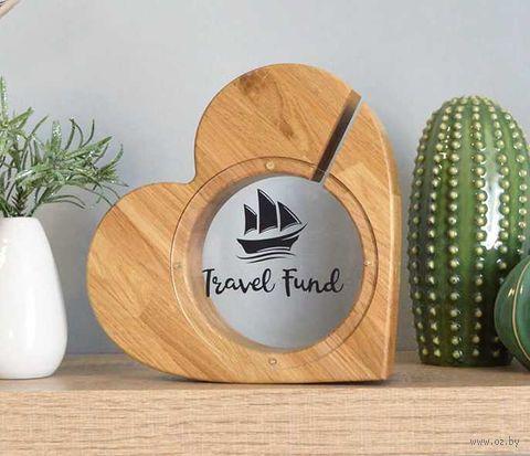 "Копилка ""Сердце. Travel Fund"" (арт. HB-3.009) — фото, картинка"