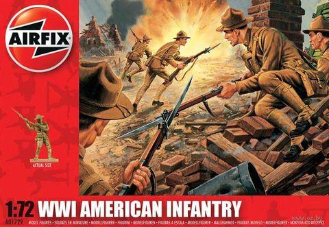 "Набор миниатюр ""Пехота США WW.I"" (масштаб: 1/72) — фото, картинка"