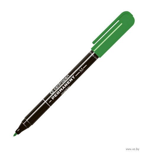 Маркер-перманент (цвет чернил: зеленый; 1 мм)