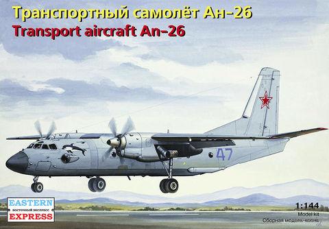 """Транспортный самолет Ан-26 """"ВВС"""" (масштаб: 1/144)"""