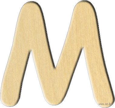 """Заготовка деревянная """"Английский алфавит. Буква M"""" (32х30 мм)"""