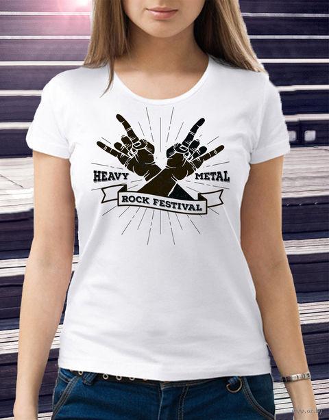 "Футболка женская ""Heavy Metal"" (размер 46; art. 3)"