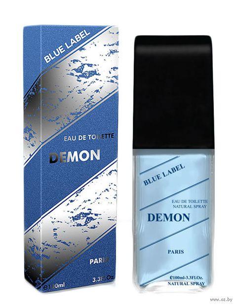 """Туалетная вода для мужчин """"Demon Blue Label"""" (100 мл) — фото, картинка"""