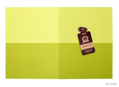 "Салфетка сервировочная ""Геометрия"" (300x450 мм; лайм) — фото, картинка"