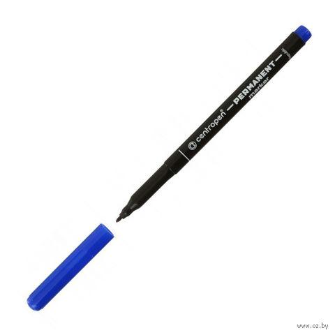 Маркер-перманент (синий; светостойкий; 1 мм)