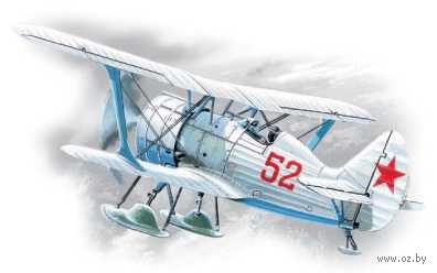 "Советский истребитель-биплан II МВ ""И-15 бис"" (зимний вариант, масштаб: 1/72) — фото, картинка"