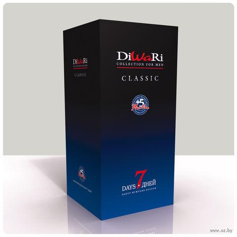"""Комплект мужских хлопковых носков """"DiWaRi. Classic 7 дней"""" (7 пар)"""