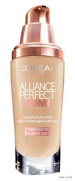 """Тональный крем для лица """"Alliance Perfect Lumi"""" (тон: DW3, светло-бежевый золотистый)"""