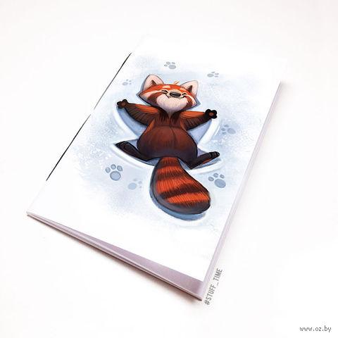"""Блокнот белый """"Красная панда"""" А6 (968)"""