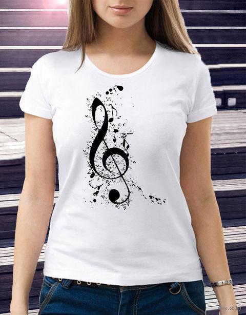 "Футболка женская ""Music"" M (art.4)"