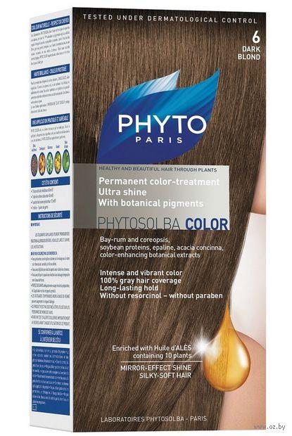 """Краска для волос """"Phytocolor"""" (тон: 6, темный блонд)"""
