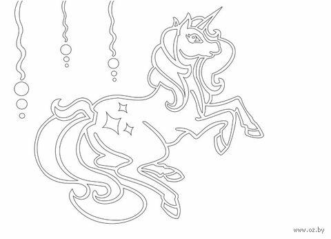 """Трафарет для рисования песком """"Единорог"""" (А5)"""