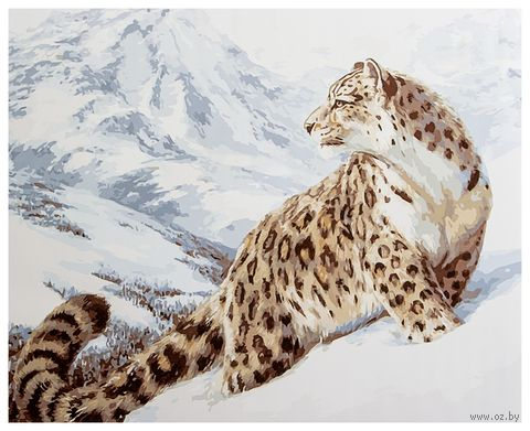 "Картина по номерам ""Снежный барс"" (400х500 мм)"