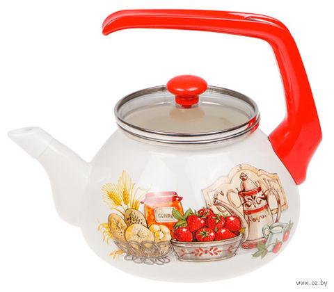 """Чайник стальной эмалированный """"Любимая кухня"""" (2,2 л) — фото, картинка"""