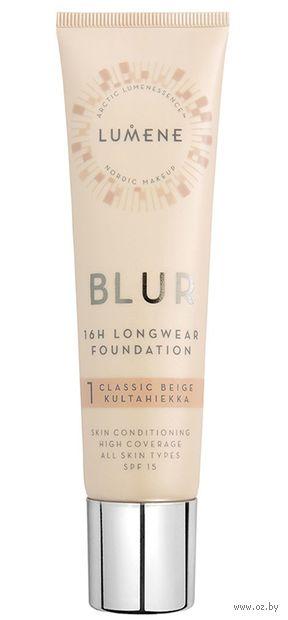 "Тональная основа для лица ""Blur Foundation New"" SPF 15 (тон: 1, classic beige) — фото, картинка"