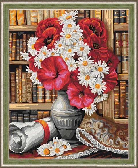 """Картина по номерам """"Библиотека"""" (400х500 мм) — фото, картинка"""