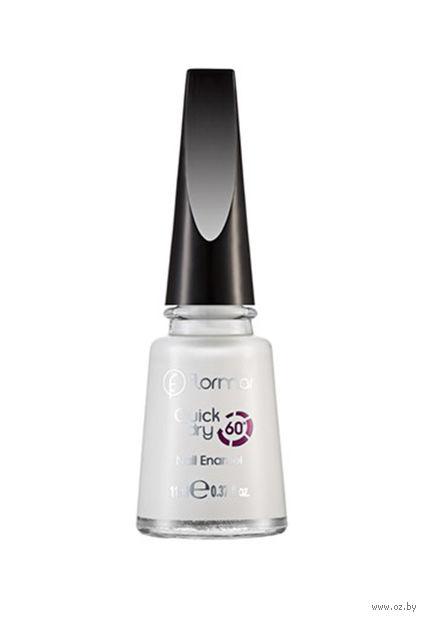 """Лак для ногтей """"Quick Dry Nail Enamel"""" (тон: 01, snow white) — фото, картинка"""