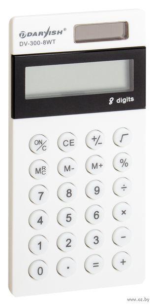 "Калькулятор карманный ""Darvish"" (8 разрядов; арт. DV-300-8WT) — фото, картинка"