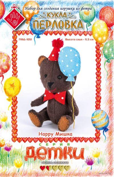 """Набор для шитья из фетра """"Счастливый Мишка"""" — фото, картинка"""