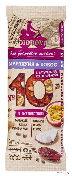 "Батончик ""Bionova. Маракуйя и кокос"" (35 г) — фото, картинка"