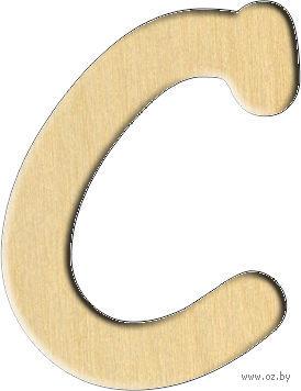 """Заготовка деревянная """"Английский алфавит. Буква C"""" (54х70 мм)"""