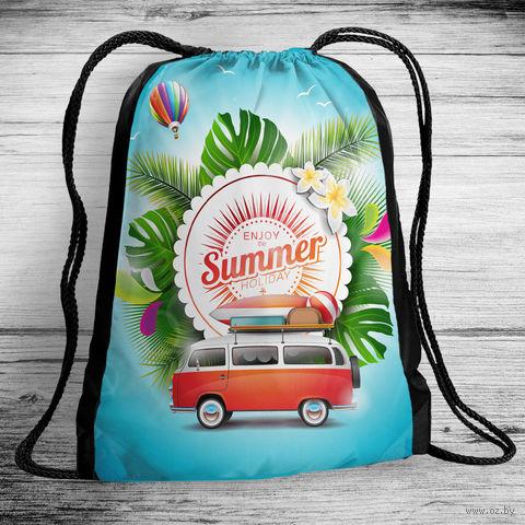 "Рюкзак-мешок ""Enjoy the summer holiday"" (арт. 6) — фото, картинка"