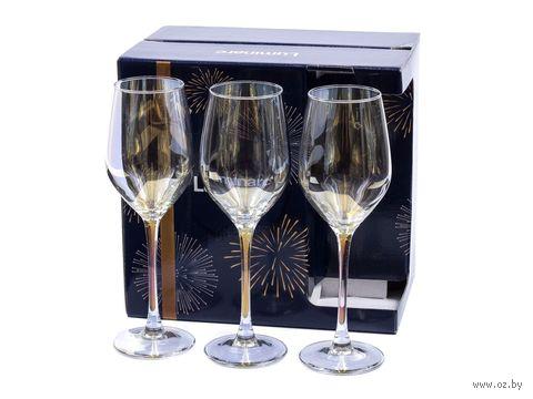 """Бокал для вина стеклянный """"Golden Chameleon"""" (6 шт.; 270 мл) — фото, картинка"""