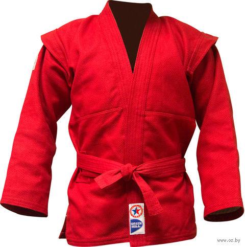 Куртка для самбо JS-303 (р. 4/170; красная) — фото, картинка