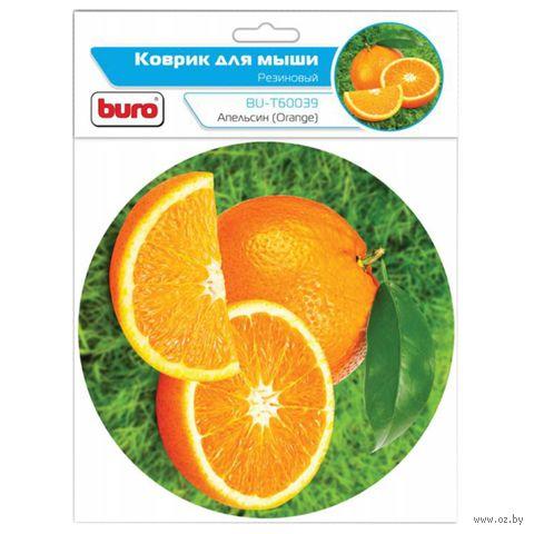 Коврик для мыши Buro BU-T60039 (рисунок/апельсин) — фото, картинка