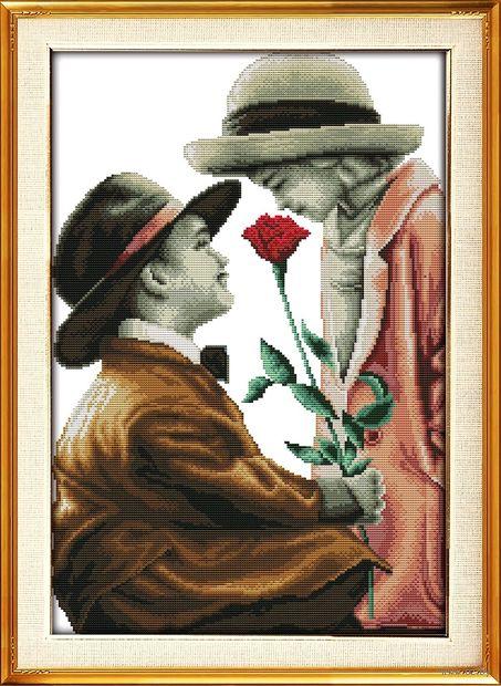 """Вышивка крестом """"Роза для леди"""" (300x450 мм) — фото, картинка"""
