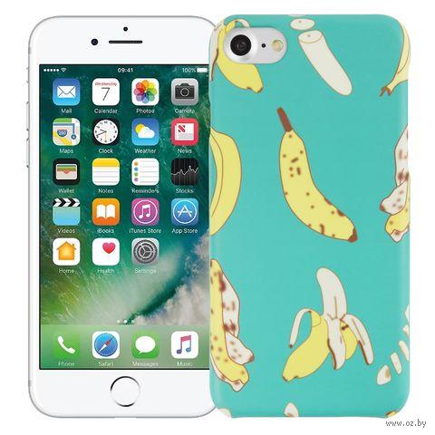 "Чехол для iPhone 7/8 ""Banana"" (голубой) — фото, картинка"