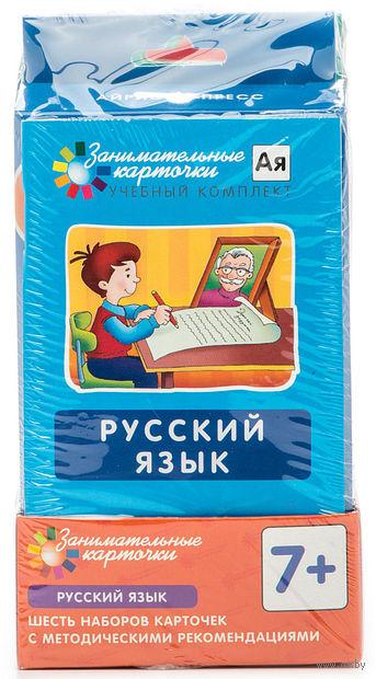 Комплект карточек по русскому языку на поддончике с методичкой. А. Штец