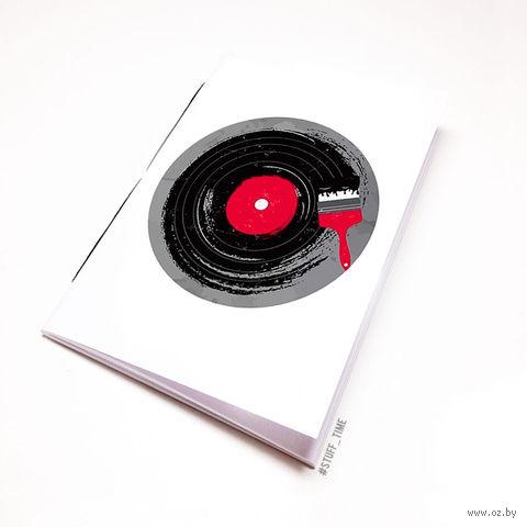 "Блокнот белый ""Винил"" А6 (110)"