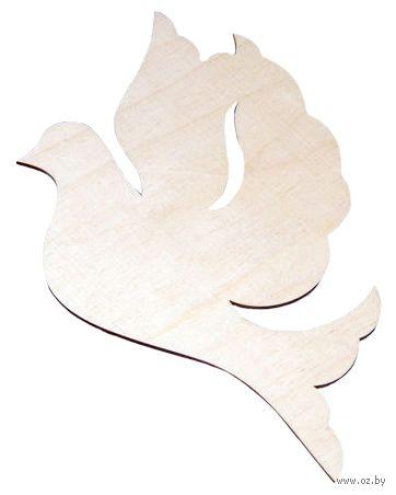 "Заготовка деревянная ""Голубь"" (140х105 мм) — фото, картинка"