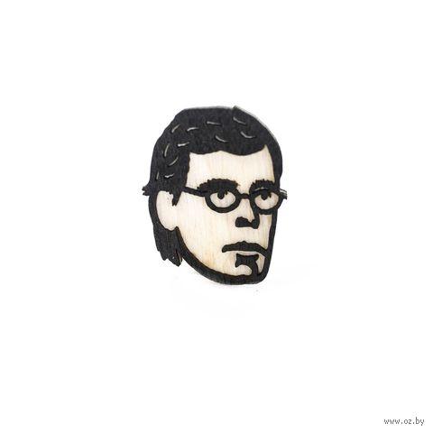 "Значок деревянный ""Стивен Кинг"" — фото, картинка"