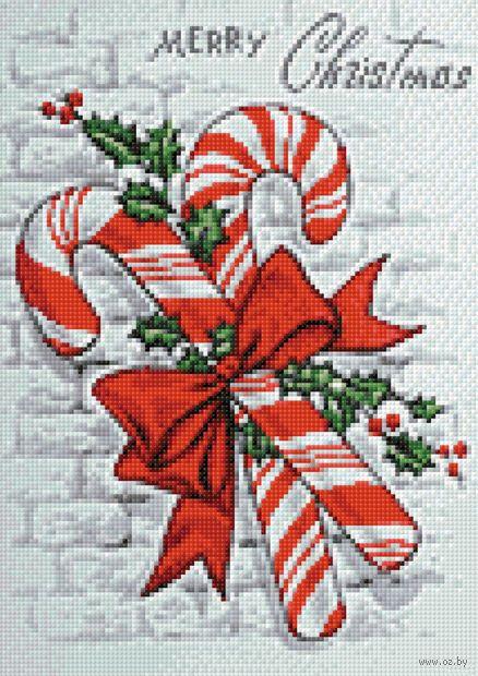 """Алмазная вышивка-мозаика """"Новогодняя карамель"""" (270х380 мм) — фото, картинка"""